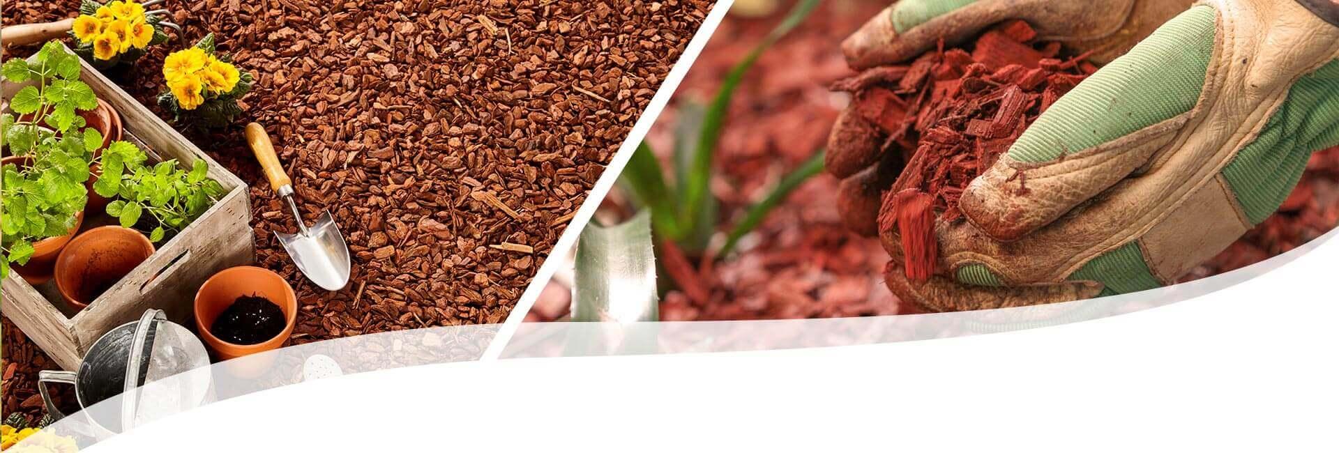 Mulchen im Garten